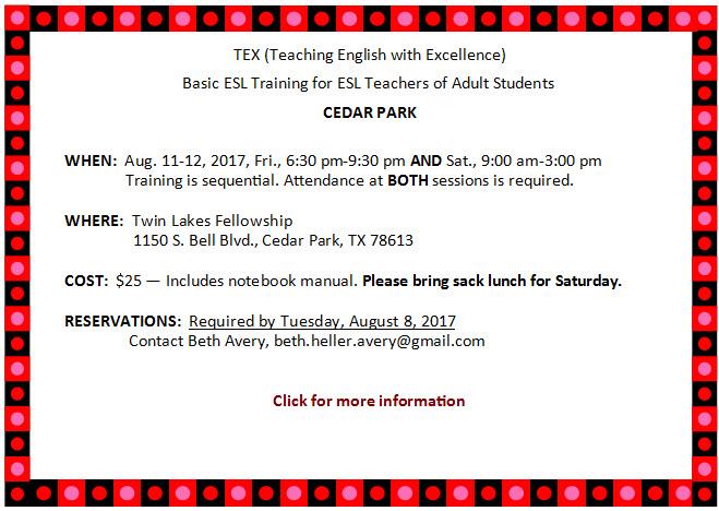 Cedar Park Basic TEX Aug. 2017