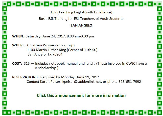 San Angelo Basic TEX June 2017