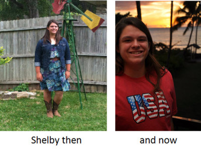 Shelby then and now--large print