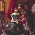 Mother and Children Reading by Arthur Boyd Houghton 1860